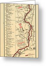 Map Of The Lone Star Route 1922 Greeting Card
