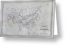 Map Of The Mongol Empire In Asia And Europe Greeting Card