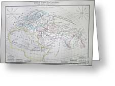 Map Of The World According To The Ancients Greeting Card