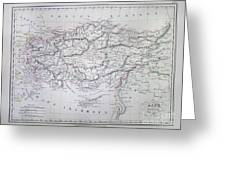 Map Of Turkey Or Asia Minor In Ancient Times Greeting Card