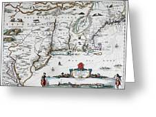 Map Of Virginia - 1665 Greeting Card