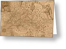 Map Of Virginia 1698 Greeting Card