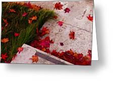 Maple Leaf Fall 3 - The Getty Greeting Card