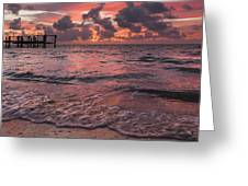 Marathon Key Sunrise Panoramic Greeting Card by Adam Romanowicz