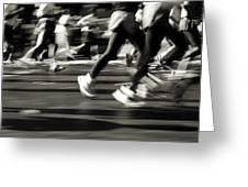 Marathon, Nyc, New York City, New York Greeting Card