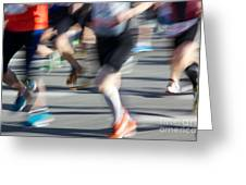 Marathon Runners Greeting Card