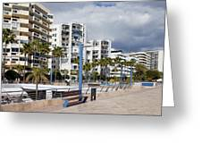 Marbella Apartment Buildings Greeting Card