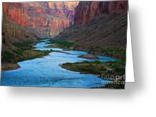 Marble Canyon Rafters Greeting Card by Inge Johnsson