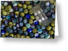 Marble Collection Jar 1 A Greeting Card