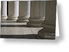 Marble Columns Of Thomas Jefferson Memorial Greeting Card