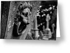 Marble Lion Greeting Card