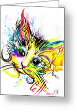 Marble The Cat Greeting Card