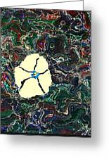 Marbled Flower Greeting Card
