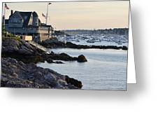 Marblehead Harbor Chandler Hovey Park Greeting Card