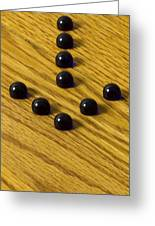 Marbles Arrow Blue 1 Greeting Card