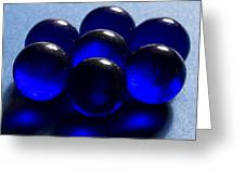 Marbles Blue 1 C Greeting Card
