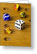 Marbles Board Game 1 C Greeting Card