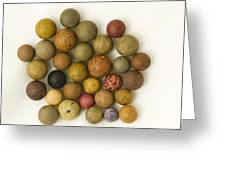 Marbles Clay 1 Greeting Card
