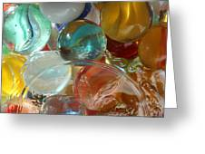 Marbles In A Jar Greeting Card by Mary Bedy