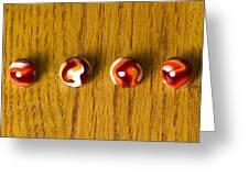 Marbles Red Orange Swirl 1 Greeting Card