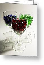 Marbles Wine Glasses 2 Greeting Card