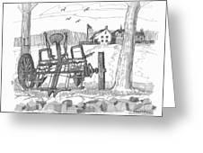 Marbletown Farm Equipment Greeting Card