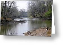March River Morning Greeting Card