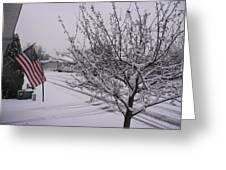 March Snowfall Greeting Card