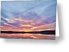 March Sunset At Whitesbog Greeting Card