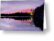 March Sunset In Maine Greeting Card
