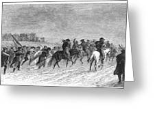 March To Trenton, 1776 Greeting Card