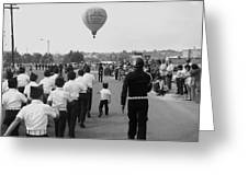 Marchers Number 2 100th Anniversary Parade Nogales Arizona 1980 Black And White  Greeting Card