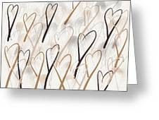 Marching Hearts Greeting Card