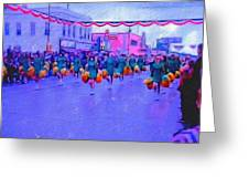 Marching In The Parade Greeting Card