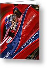 Marco Andretti Focused Greeting Card