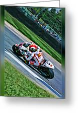 Marco Simoncelli Uphill Greeting Card
