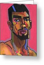 Marco With Gold Chain Greeting Card by Douglas Simonson