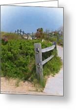 Marconi Beach Path Greeting Card