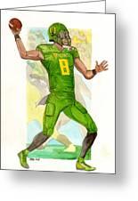 Marcus Mariota Oregon Ducks Rose Bowl Greeting Card
