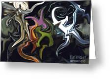 Mardi Gras Abstract Greeting Card