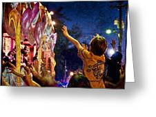 Mardi Gras At Night Greeting Card by Ray Devlin