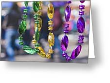 Mardi Gras Beads Greeting Card