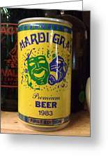 Mardi Gras Beer 1983 Greeting Card