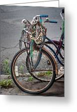 Mardi Gras Bicycle Greeting Card by Brenda Bryant