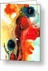 Mardi Gras - Colorful Abstract Art By Sharon Cummings Greeting Card