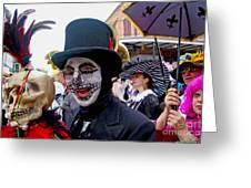 Mardi Gras Costumes Photo Greeting Card