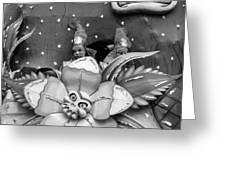 Mardi Gras Float Monochrome Greeting Card