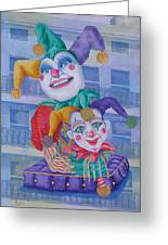 Mardi Gras Jesters Greeting Card