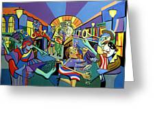 Mardi Gras Lets Get The Party Started Greeting Card