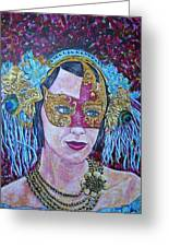 Mardi Gras Greeting Card by Linda Vaughon
